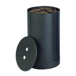 Storekeeper pellet wood Fractio black Frost nineteen design
