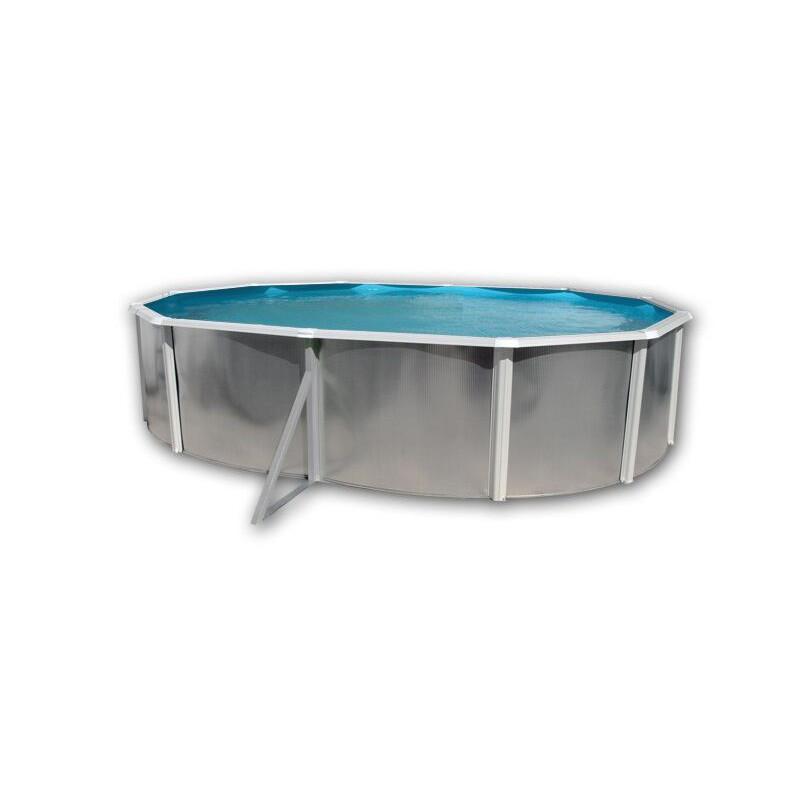 piscine ovale hors sol 550x366x120 paroi rigide galvanis e silver blanche ovale toi. Black Bedroom Furniture Sets. Home Design Ideas
