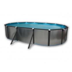 プール オーバル オードブル ソル 640 × 366 × 120 壁硬質プロファイル黒亜鉛メッキ シルバー オーバル TOI