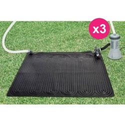 Set of 3 solar for swimming pool above ground Intex carpet