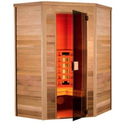 Sauna infrared Multiwave 130 - 3 seater angular Holl's