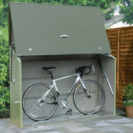 Metal Sesame green bicycle shelter 1.41 square meters with floor Metal - 1500L - Trimetals
