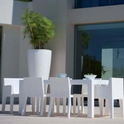 Jut Vondom rettangolare Mesa 180 tavolo bianco