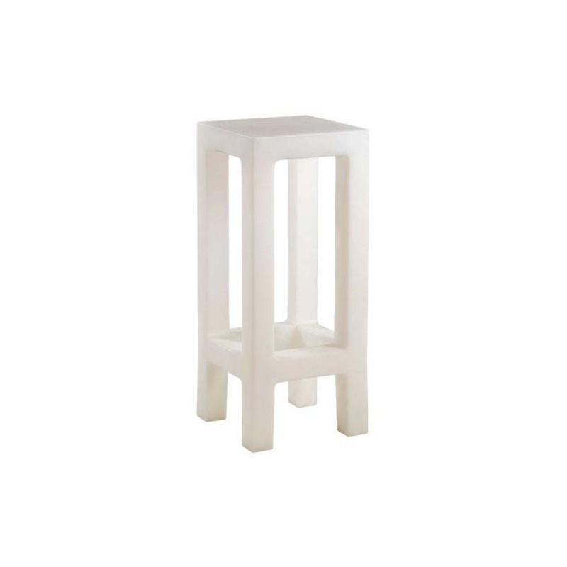 jut taburete tabouret haut vondom blanc. Black Bedroom Furniture Sets. Home Design Ideas
