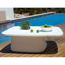 Moma Low Table Jardiniere Vondom Blanc
