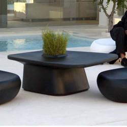 Plantador de baixa tabela preto Vondom MoMA