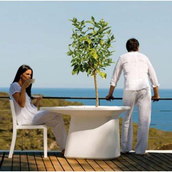 Medium Table planter white Vondom MoMA