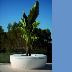 Vases Islands bench Vondom white planter
