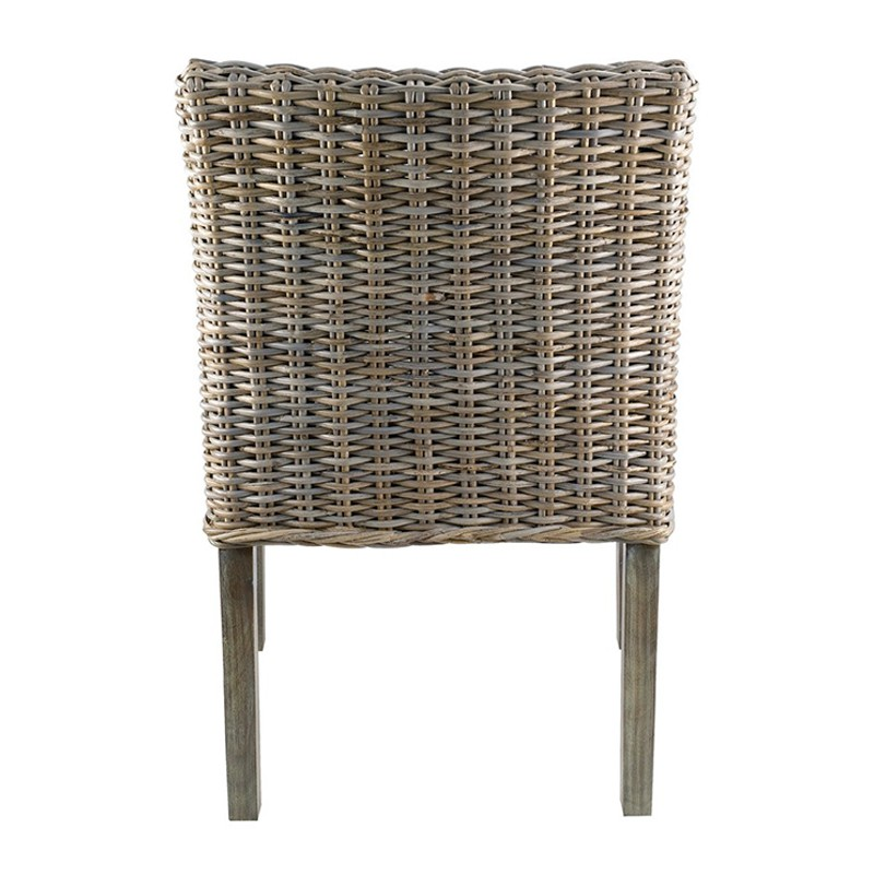 fauteuil en kubu pieds teck teint gris kosyform. Black Bedroom Furniture Sets. Home Design Ideas