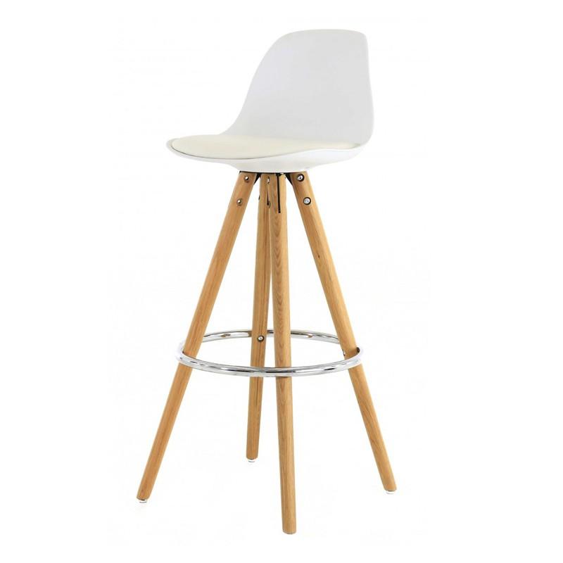 Bar Stühle satz 4 bar stühle hoch weißeiche kosyform basis