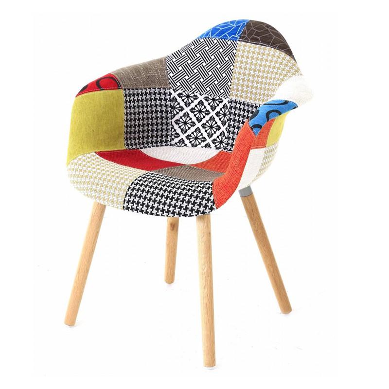 Lot de 4 fauteuils design multicolore patchwork kosyform for Fauteuil multicolore design