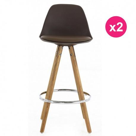 Set Of 2 Chairs Mole Base Oak Kosyform Work Plan