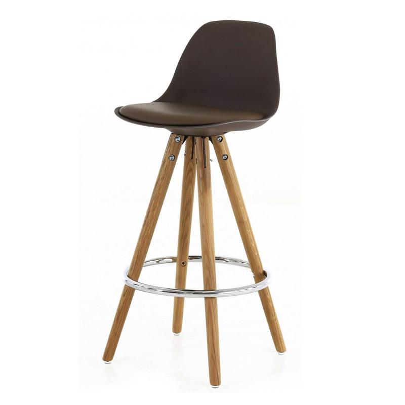 Lot de 2 chaises plan de travail taupe pi tement ch ne for Chaise pour plan de travail