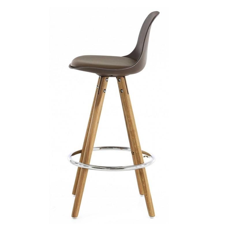 Lot de 4 chaises plan de travail taupe pi tement ch ne for Chaise de travail
