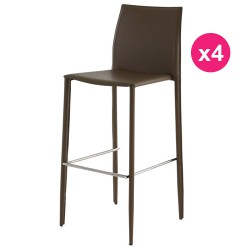 Set of 4 Bar sand KosyForm leatherette chairs