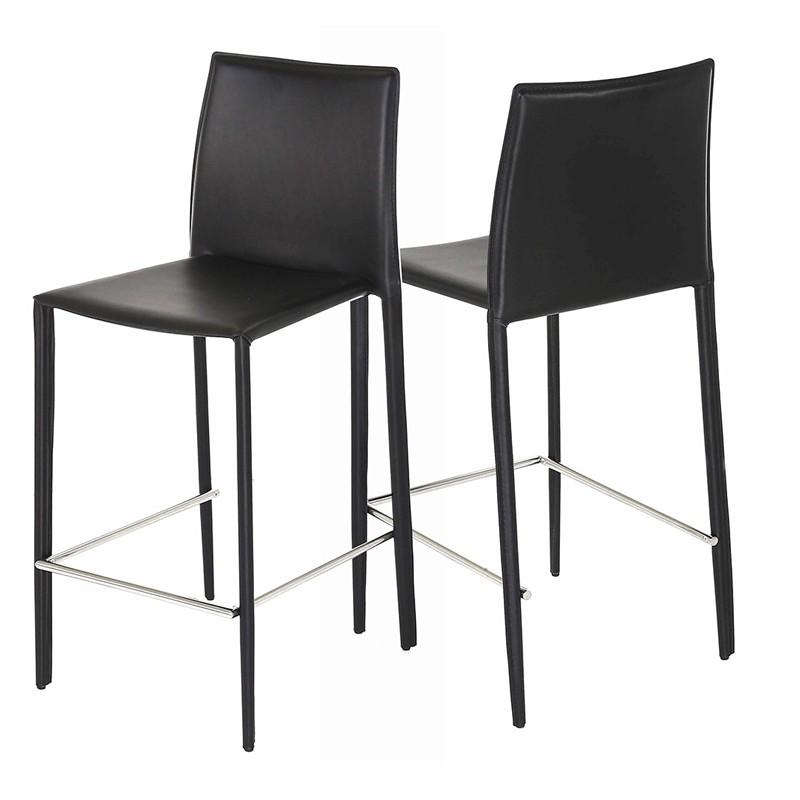 Lot de 4 chaises plan de travail noire kosyform - Lot de 4 chaises noires ...