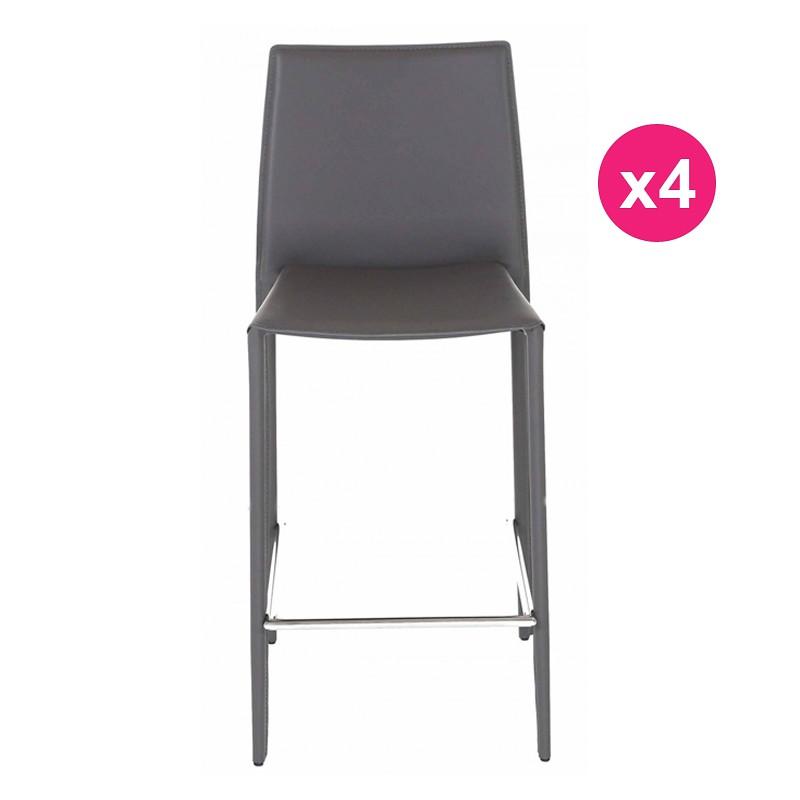 lot de 4 chaises plan de travail grise kosyform. Black Bedroom Furniture Sets. Home Design Ideas