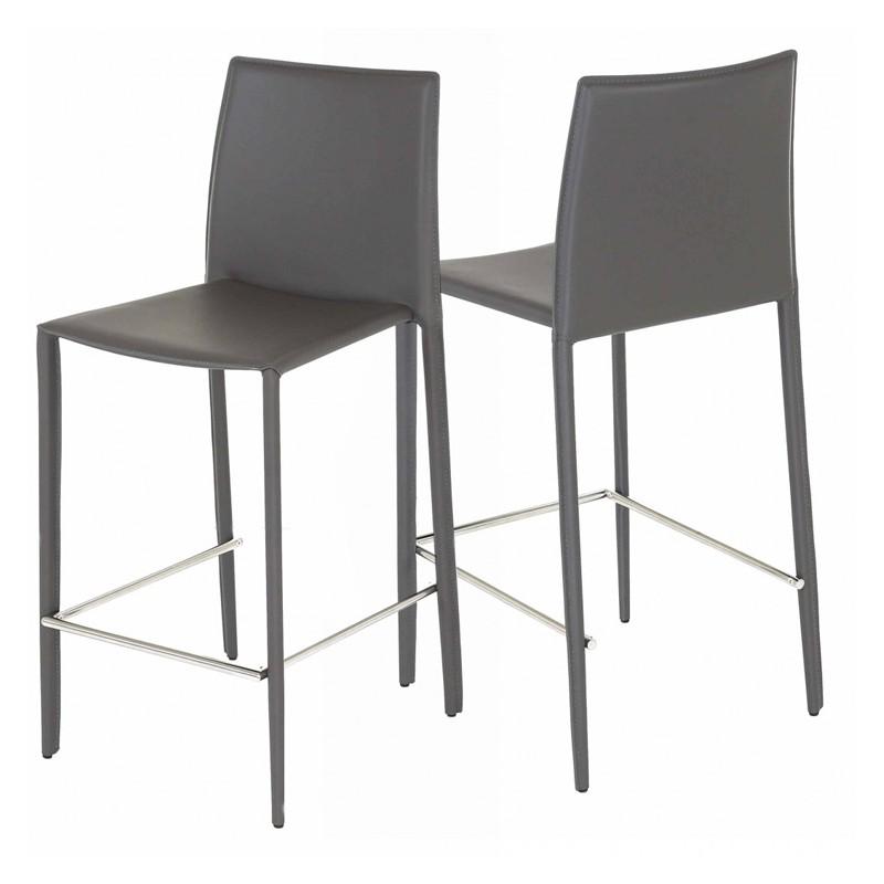 Lot de 4 chaises plan de travail grise kosyform for Chaise pour plan de travail