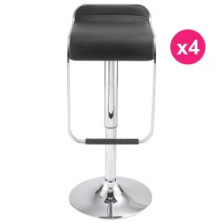 Lot de 4 Tabourets de Bar Noir KosyForm