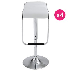Lot de 4 Tabourets de Bar Blanc KosyForm