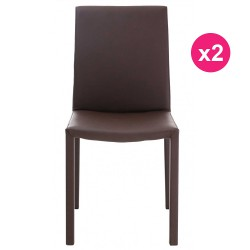 Lot de 2 Chaises Design Marron KosyForm