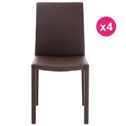 Lot de 4 Chaises Design Marron KosyForm