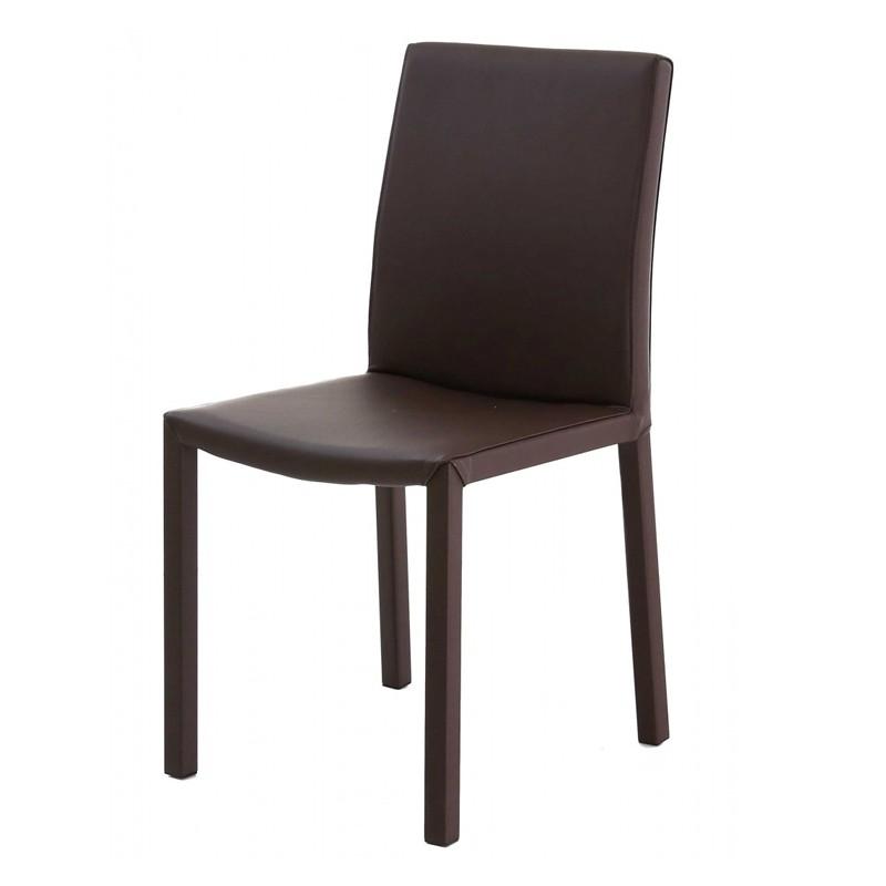 lot de 4 chaises design marron kosyform. Black Bedroom Furniture Sets. Home Design Ideas