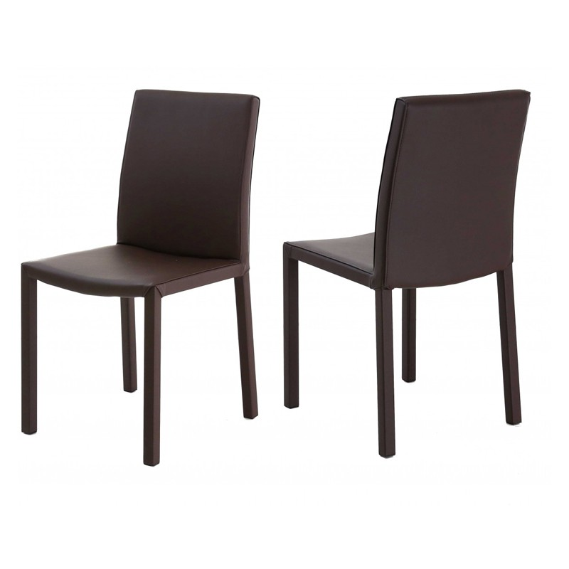 Lot de 4 chaises design marron kosyform - Lot de 4 chaises design ...