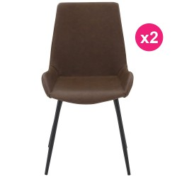 Lot de 2 Chaises Marron KosyForm