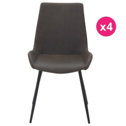 Set of 4 chairs Brown aged KosyForm