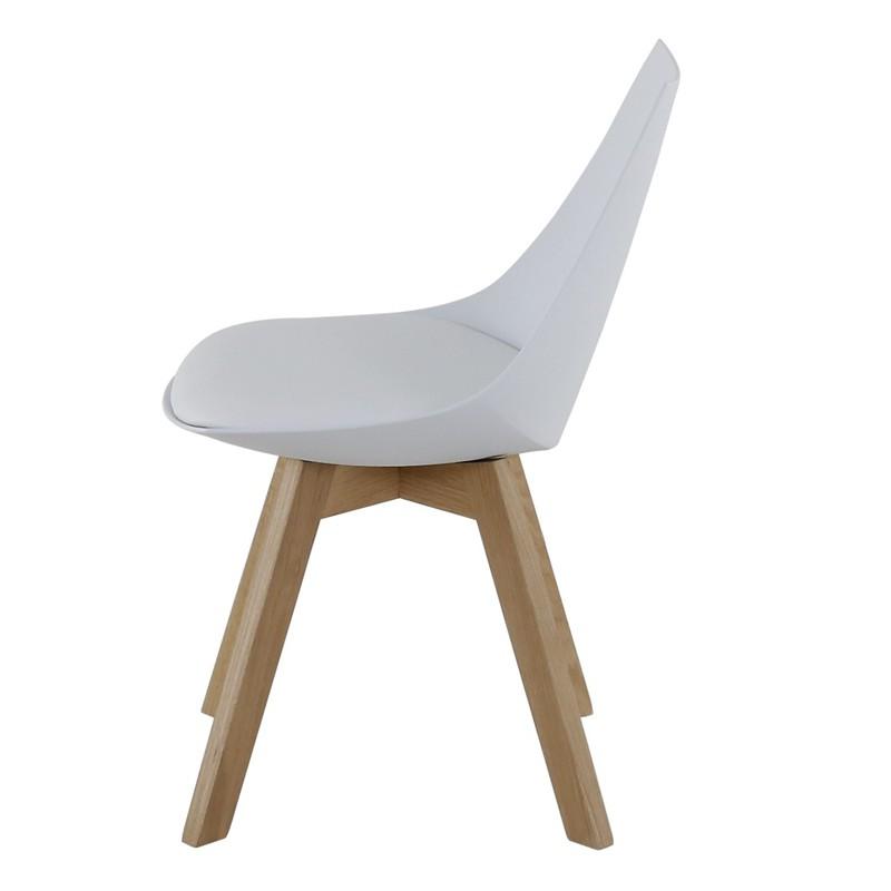 Lot de 4 chaises blanches et pi tement ch ne kosyform for Lot de 4 chaises blanches
