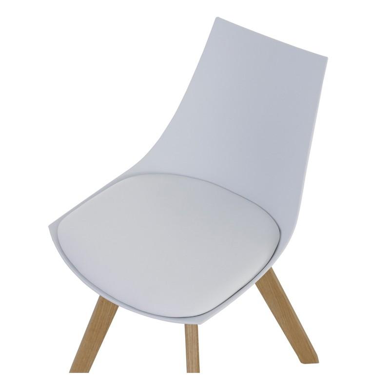 lot de 4 chaises blanches et pi tement ch ne kosyform. Black Bedroom Furniture Sets. Home Design Ideas