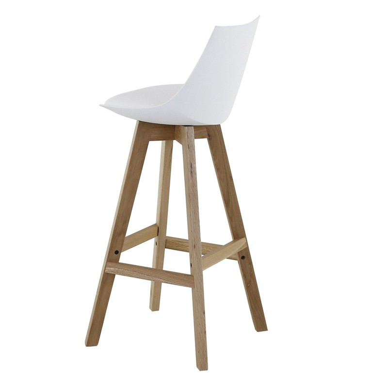 Lot 4 chaises blanches maison design - Chaise de bar blanche ...