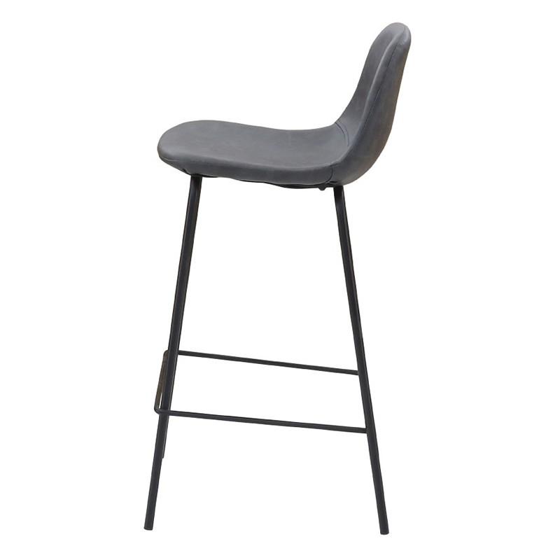 lot de 2 chaises de bar noir vieilli kosyform. Black Bedroom Furniture Sets. Home Design Ideas