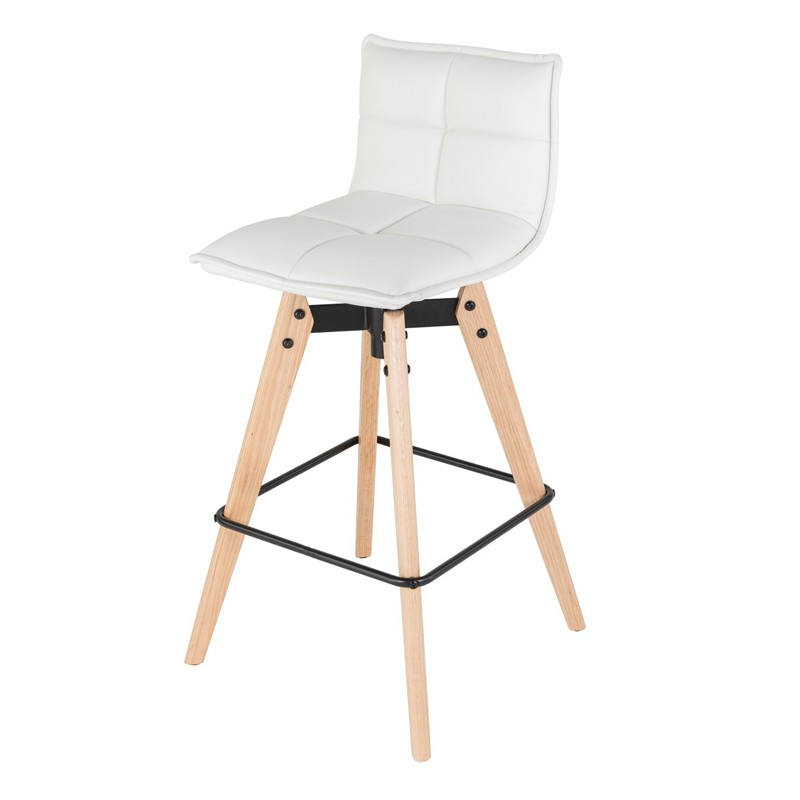 lot de 2 chaises de bar similicuir blanc kosyform. Black Bedroom Furniture Sets. Home Design Ideas