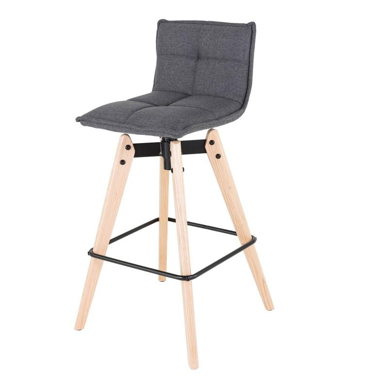 lot de chaises de bar capitonne gris lot de chaises scandinaves karl tissu gris coin du design