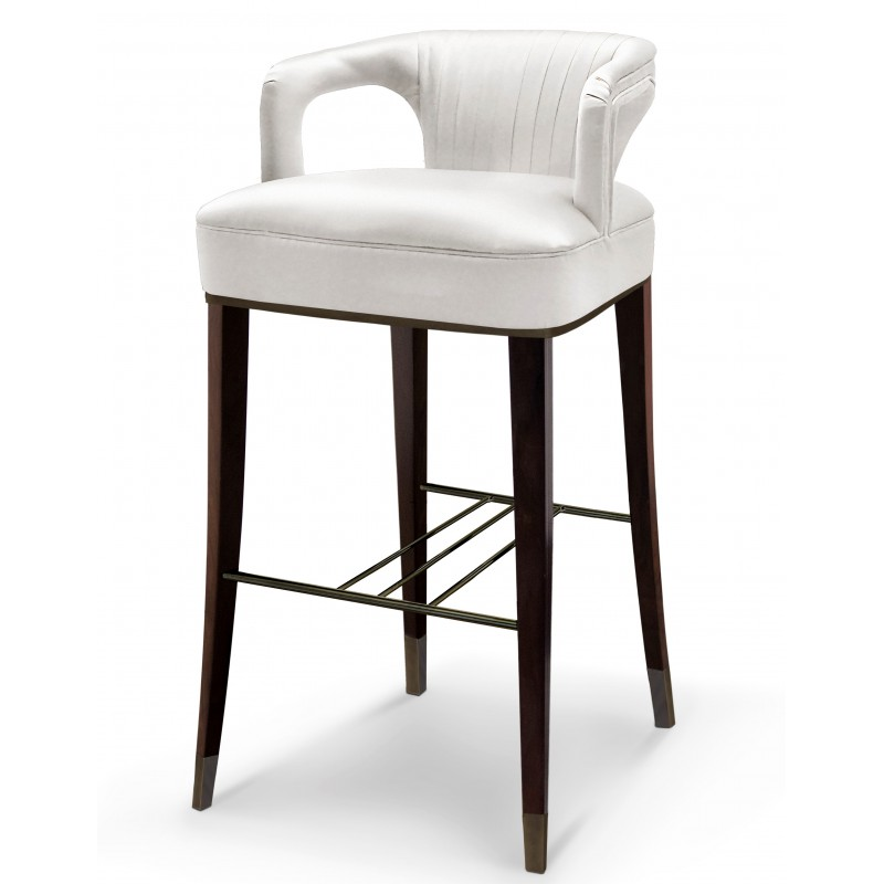 Tabouret de bar karoo blanc brabbu design forces - Tabouret de bar blanc design ...