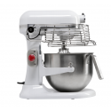 Robot pie maker on Kitchenaid Professional 5KSM7990X white silver base