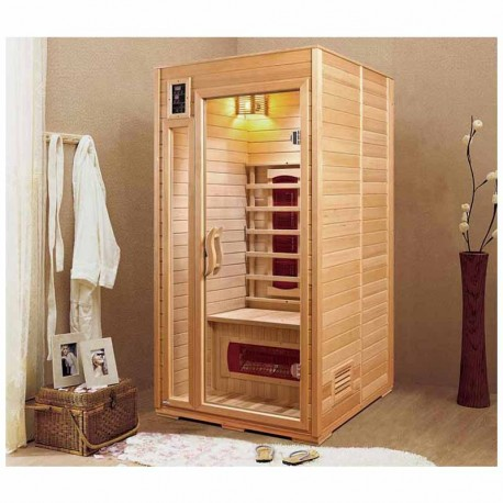 sauna infrarouge montana 1 place veryspas. Black Bedroom Furniture Sets. Home Design Ideas
