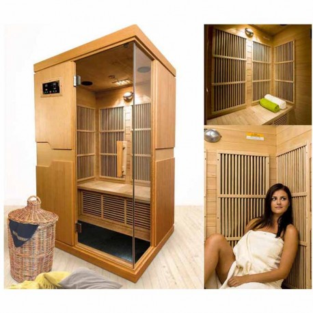 sauna infrarouge courchevel 2 places veryspas. Black Bedroom Furniture Sets. Home Design Ideas