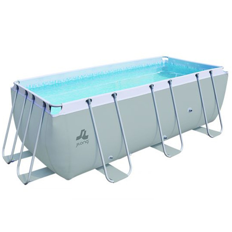 Piscine jilong hors sol tubulaire passaat gris 400x200x99h for Aspirateur piscine hors sol jilong