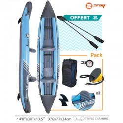 Canoa KAYAK gonfiabile con paddles 2 ROATAN Zray