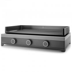 Plancha Gaz forge Adour modern 3 burners 6000 W 75 cm steel enamelled cast iron plate
