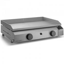 Plancha Gaz Forge Adour Base 2 Bruleurs 7200 W 60 cm Placa y Caja Inoxidable