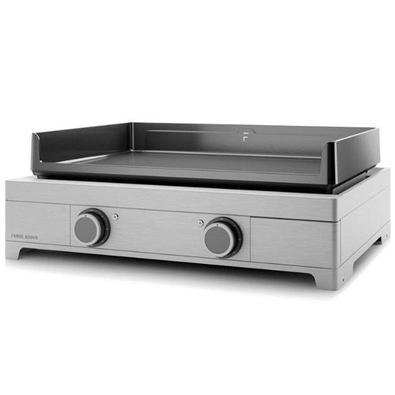 Plancha electrique forge adour modern e60 inox 2 bruleurs for Nettoyage plancha fonte emaillee forge adour