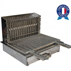 Barbecue Tonio with charcoal recessed all stainless steel with grille