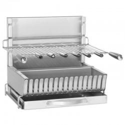 Gril Inox Forge Adour 907-56 Dimension 56 x 45 x 48 cm avec 6 Brochettes