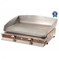 Plancha Tonio Feria 2 Feria caja y placa de acero inoxidable de gas