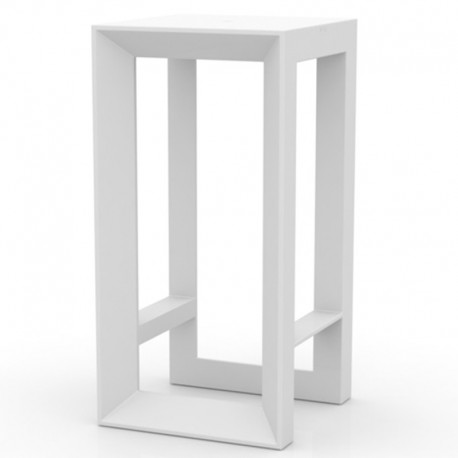 table haute de bar frame vondom blanche. Black Bedroom Furniture Sets. Home Design Ideas