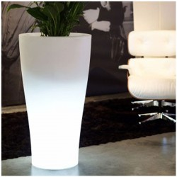 Pot Lumineux Curvada Vondom H100 LED Blanc